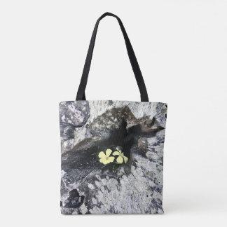 Modernes Chic-Gelb-Blumen-Baum-Stumpf-Foto Tasche