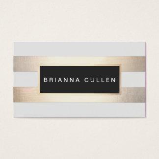 Modernes Chic Striped Goldfolie (Bild) und Visitenkarten