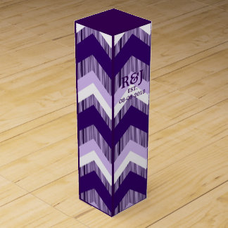 modernes Chic Vintages ombre lila Zickzack Flaschen Geschenkverpackungen