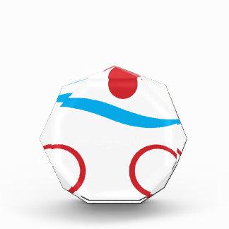 Modernes cooles Logo des Triathlon Acryl Auszeichnung