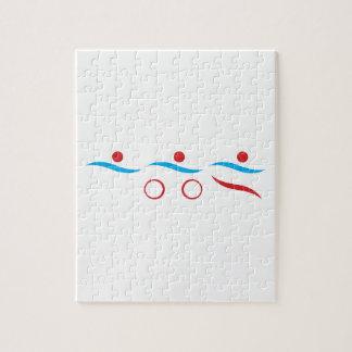 Modernes cooles Logo des Triathlon Puzzle