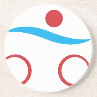Modernes cooles Logo des Triathlon Untersetzer
