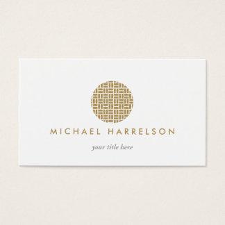 Modernes dekoratives Logo im Gold Visitenkarte