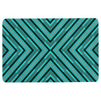 Modernes diagonales kariertes Abstufungens-Muster Bodenmatte