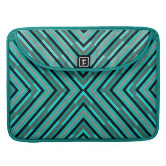 Modernes diagonales kariertes Abstufungens-Muster Sleeve Für MacBook Pro