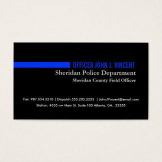 Modernes dünnes Blue Line überwachen polizeilich Visitenkarte