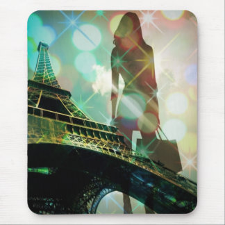 Modernes Eiffel-Turm-Paris-Brautparty Mousepad
