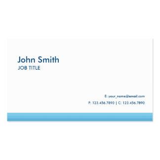 Modernes einfaches einfaches High-Teches Blau Visitenkarten Vorlagen