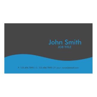 Modernes einfaches einfaches High-Teches Blau Visitenkarten