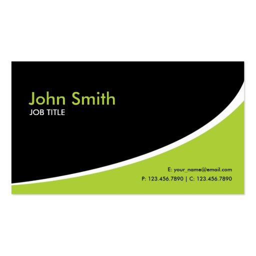 Modernes einfaches einfaches High-Teches Grün Visitenkarte