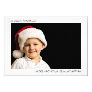 Modernes einfaches personalisiertes WeihnachtsFoto Karte