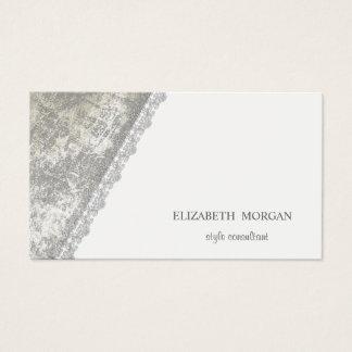 Modernes einfaches, unbedeutend, weiß, Spitze Visitenkarte