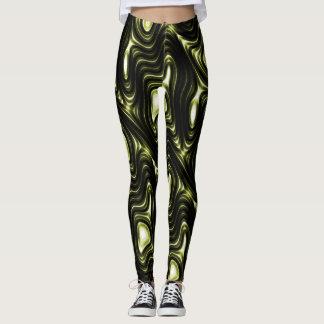 Modernes einzigartiges abstraktes grünes leggings