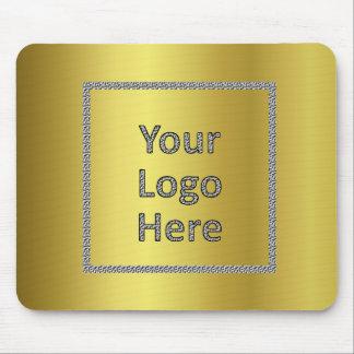 Modernes elegantes Goldfolien-Logo Mousepads