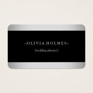 Modernes elegantes Goldfolien-Metall beruflich Visitenkarte