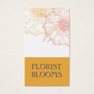 Modernes Floristen-Visitenkarte-Gelb-Grau Visitenkarte