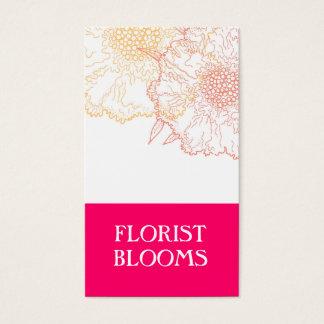 Modernes Floristen-Visitenkarte-Rosa-orange Rot Visitenkarte