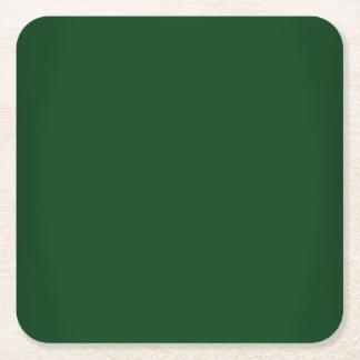 Modernes Forest Green kundengerecht Rechteckiger Pappuntersetzer