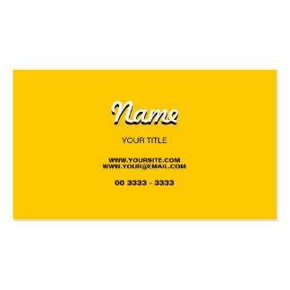 Modernes Gelb Visitenkarten