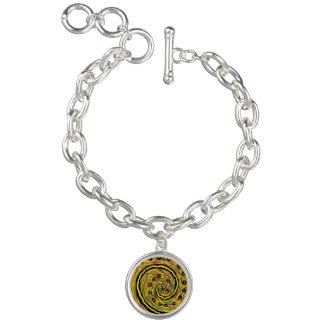 Modernes gelbes abstraktes charm armband