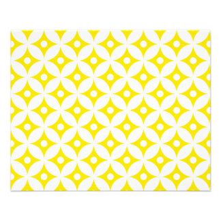 Modernes gelbes und weißes Kreis-Tupfen-Muster Flyer