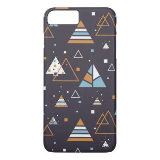 Modernes geometrisches buntes Dreieck-Muster 2 iPhone 8 Plus/7 Plus Hülle
