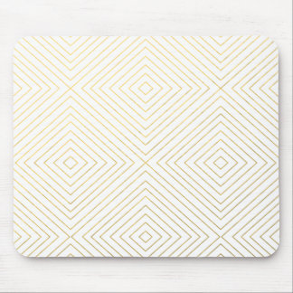 Modernes geometrisches Gold quadriert Muster auf Mauspad