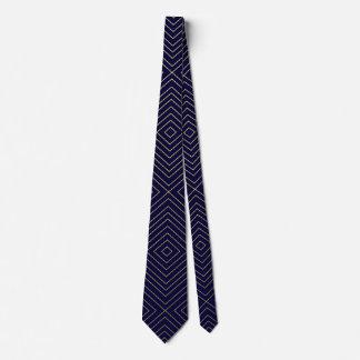 Modernes geometrisches Gold quadriert Muster auf Personalisierte Krawatte