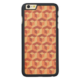 Modernes geometrisches Muster Brown u. Beige Carved® Maple iPhone 6 Plus Hülle