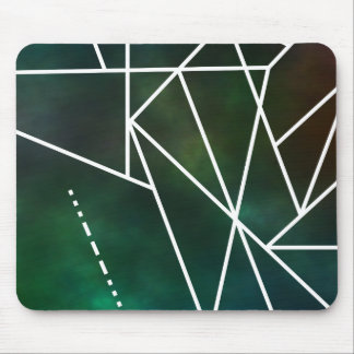 Modernes geometrisches Muster S.O.S. Galactic Mousepad