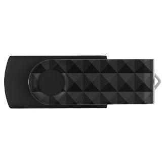 Modernes geometrisches schwarzes Quadrat-Muster USB Stick