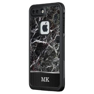 Modernes Geschäfts-beruflicher Granit-Stein-Blick LifeProof FRÄ' iPhone 8 Plus/7 Plus Hülle