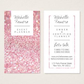 Modernes girly Imitat zackt Glitter bokeh Visitenkarten