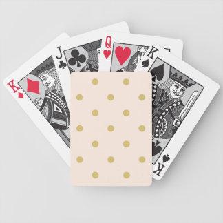 Modernes Girly Rosa-und GoldTupfen-Muster Bicycle Spielkarten