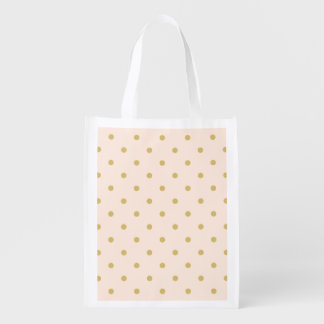 Modernes Girly Rosa-und GoldTupfen-Muster Wiederverwendbare Einkaufstasche
