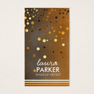 Modernes Glitter Bokeh Make-upkünstler-Grün Visitenkarte