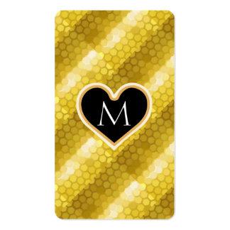 Modernes Glitter-Gold Visitenkarten