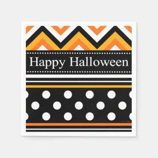 Modernes glückliches Halloween-Muster Serviette