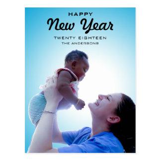 Modernes glückliches neues Jahr 2018 des Postkarte