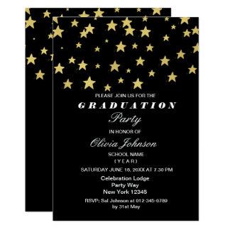Modernes Gold hat Abschluss-Party-Karte in der 12,7 X 17,8 Cm Einladungskarte