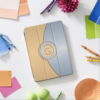 Modernes Gold-und Silber-Monogramm iPad Pro Cover
