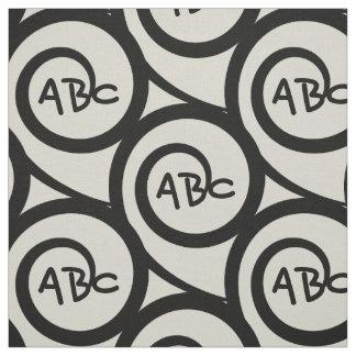 Modernes Graffiti-Monogramm-Spiralen-Muster Stoff
