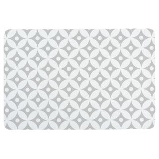 Modernes graues und weißes Kreis-Tupfen-Muster Bodenmatte