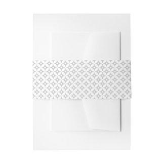 Modernes graues und weißes Kreis-Tupfen-Muster Einladungsbanderole