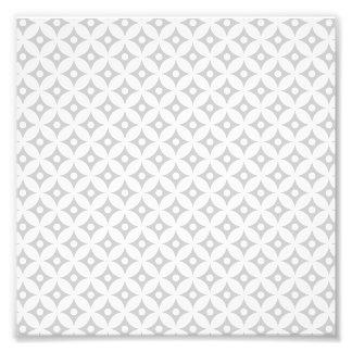 Modernes graues und weißes Kreis-Tupfen-Muster Fotodruck