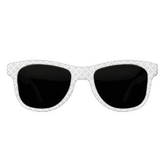 Modernes graues und weißes Kreis-Tupfen-Muster Sonnenbrille