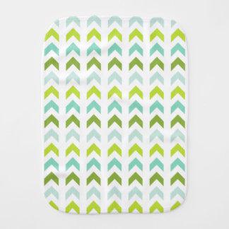 Modernes Grün, Minze, Aqua, weißes geometrisches Spucktuch