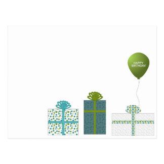 Modernes Grün und Türkis-alles Gute zum Geburtstag Postkarten