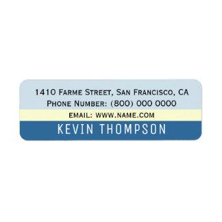 modernes grundlegendes einfaches Adressen-Etikett