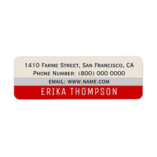 modernes grundlegendes einfaches Adressen-Etikett Rückversand-Adressaufkleber